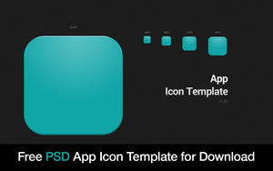 Free App Icon Template PSD by How2Des