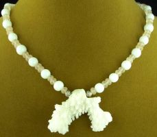 White Coral Ocean Goddess Necklace by SacredJourneyDesigns