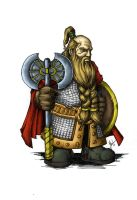 Dwarf warrior - Color by troubadour93