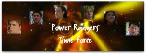 Power Rangers Time Force Banner by pinkrangerwannabe