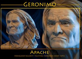 Native American Geronimo ll by renemarcel27