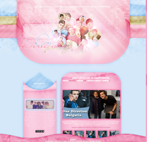 One Direction WP theme by littlebutterflyxxx