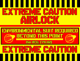 Airlock Caution Sign by viperaviator