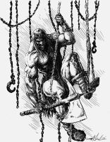 Conan and chains by skeel76