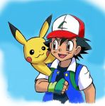 Pokemon  Ash Ketchum and Pikachu by zdrer456