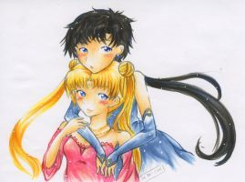 Seiya and Usagi by Kamalablah