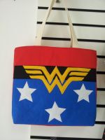 Handmade Superheroes Wonder Woman Tote Bag by RbitencourtUSA