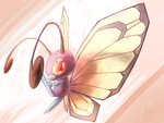 Butterfree Doodlie by RedEidolon