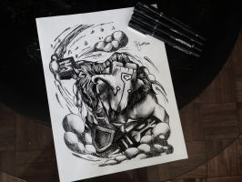Dota2 Sketch - Juggernaut by azuremizt