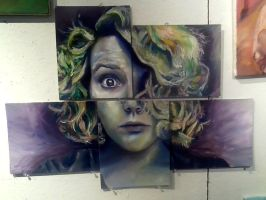 5 Panel Portrait by SaraVictor