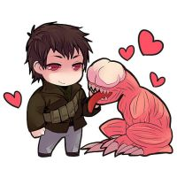 Resident Evil Damnation / Sasha and Licker by i-love-zapdos