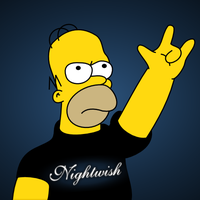 Metal Homer Simpson by tiikeri-siipirikko