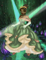 Tiana as Belle - Colored by whysp80
