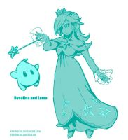 dan redraws Rosalina and Luma by dan-heron