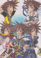 Sora and his Forms COLOR by KasumiKetchum