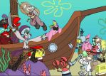 Robot Pirate Island by EJW