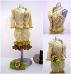 Two-Piece Creamy Suit Bead Dress by pinkythepink