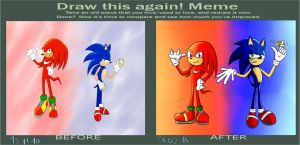 Meme before after : Deviant Art ID Sonic n Knux by S-vs-K