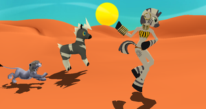 MMD Newcomer Zecora Equinoid + DL by Valforwing