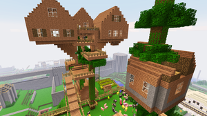 Survival Mode Tree House Complete by shadwgrl