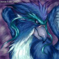 Blue gryphon by anniefelis