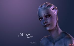 ME3 Wallpaper - Liara I by pineappletree
