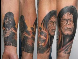star wars sleeve in progress.. by graynd