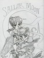 sailor moon and tuxedo mask by mabob