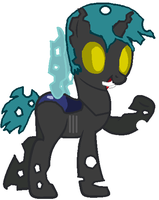 Blue Bru: Final Changeling Form by Tycoondasher
