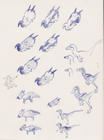 Saurus design concepts by Paperiapina
