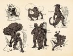 Humanoid Monsters by SHininMysticice