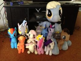Plushie Collection April 2013 by FiMStargazer