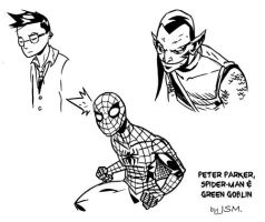 Some Spidey sketches by JsmNox