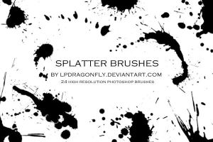 splatter brushes by ivadesign