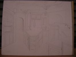 KITCHEN RENDERING DRAWING 2 by carriefawnsmom