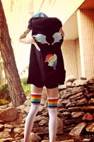 Rainbow Dash cosplay: rear view by PyroTemperTantrum