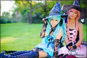 Vocaloid witches by WhenWasThisTaken