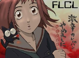 FLCL - No More Curry Bread... by candy-shards