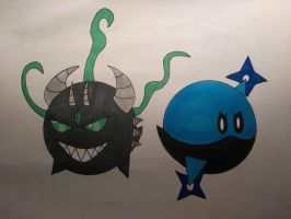 Emerald And Death Tooth by Blueghost136