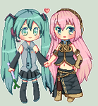 Pairing on your page: MikuxLuka by Luumies