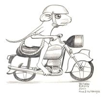 Daily Sketches Mouse and the Motorcycle by fedde