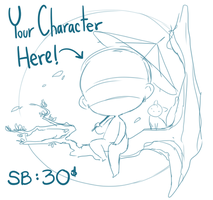 YCH : Chibi Vignette auction(ended) by Steamed-Bun