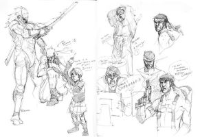 Metal Gear Solid Sketches by Mudora