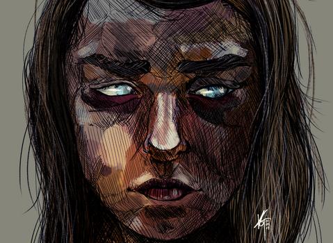 valar morghulis - Blind Arya Game of Thrones by KxG-WitcheR