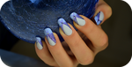 long sexy Nails in blue by Tartofraises