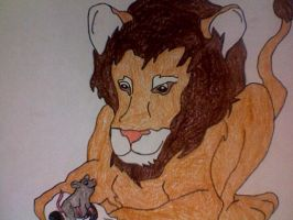 The Lion and the Mouse by Kailie2122