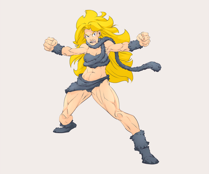 Ayla from Chrono Trigger colors by AshyKnuckles