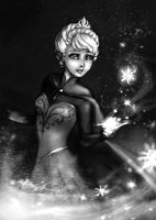 Let it go BW by DreamerWhit
