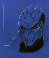 Garrus ME2 by typhon-humanoid