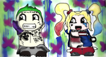 Suicide Squad Mini Joker and HarleyQuinn by lollynonor